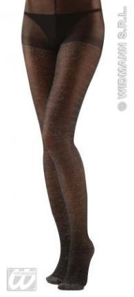 XL Glitterstrumpfhose schwarz - Damen Glitzer Strumpfhose XL
