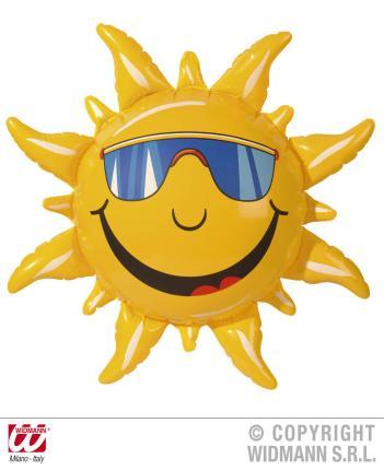 Aufblasbare Sonne 60 cm Deko-Sonne - aufgehende Sonne - Sonnendeko