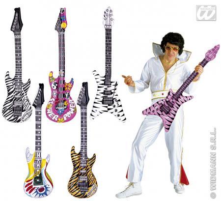 Aufblasbare Gitarre 107 cm lang - Luftgitarre  aufgeblasene Gitarre