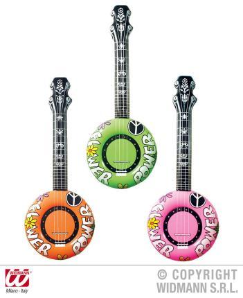Aufblasbares Banjo 100 cm - Banjospielen Dekobanjo - Luftbanjo