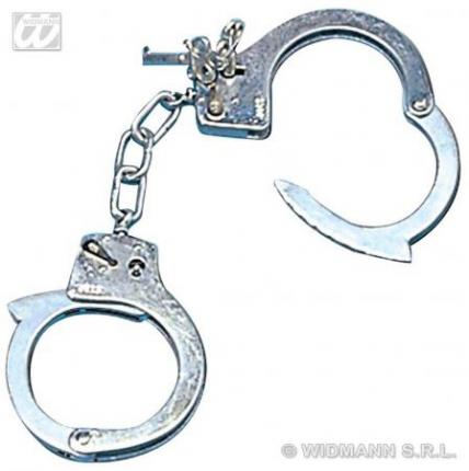 Handschellen aus Metall mit Schlüssel