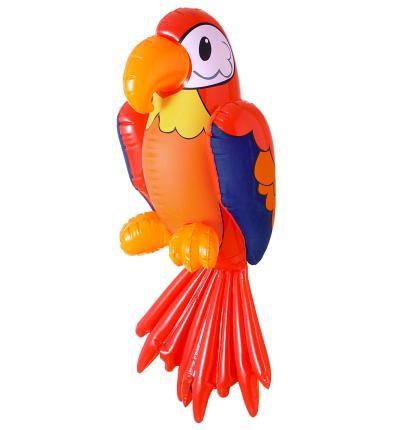 Großer aufblasbarer Papagei 60 cm - Sommer, Hawaii, Karibik, Südsee, Piraten Deko