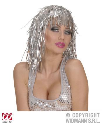 Disco Perücke in Silber - Silberperücke
