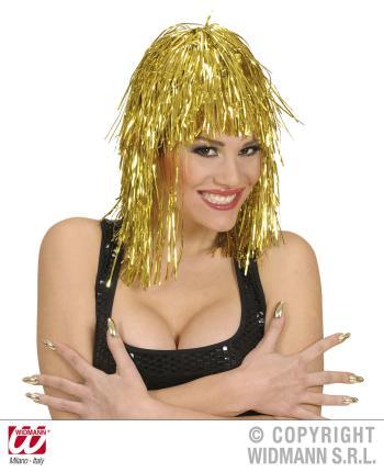 Disco Perücke in gold  -Gold Perücken