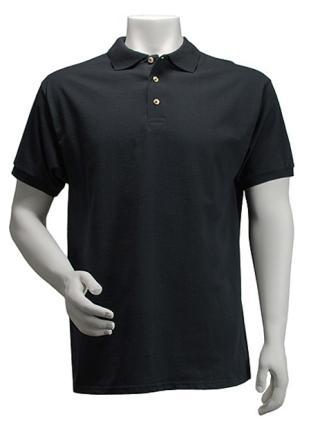 Schwarzes Poloshirt für Männer - Poloshirts -  Gr. XXL