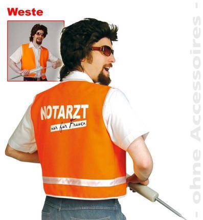 Weste Notarzt Arzt Junggesellenabschied Gr. L