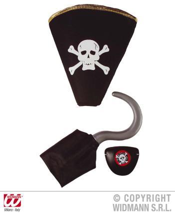 Set für Piraten - Kostüm - Piratenverkleidung - Piratenset - Pirat Verkleidung