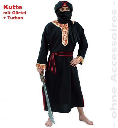 Herr der Wüste - Kutte mit Gürtel und Turban Gr. L