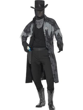 Geisterkostüm Sheriff Halloween Gr. M - Männer Verkleidung - Kostüm