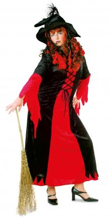 Kleid Casssandra Phantasia Hexenkleid Kostüm Dame Gr. 54 Hexe Frau XXXL