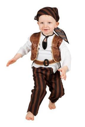 Wilbers Kinderkostüm Baby Pirat  Gr. 86 - 98 cm - Kleinkinder Piraten Seeräuber 92 cm