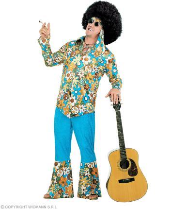 Hippy - Hippie Kostüm für Männer Gr. XL  70er Jahre Blumenkostüm XL