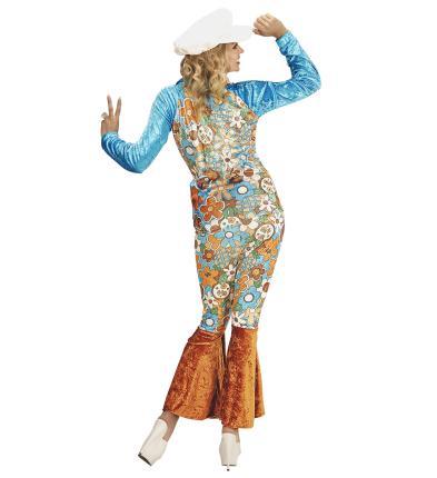 Hippy Kostüm Hippie Frau Gr.XXL - 70er 80 er Jahre Hippiekostüm
