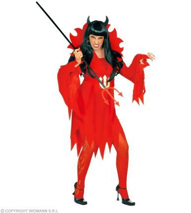 Kostüm Teufelin - Halloween rote Teufel Dame Halloween