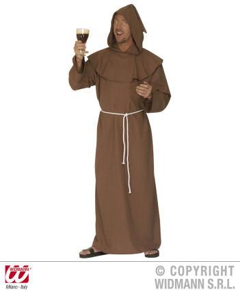 Kostüm Mönch Kapuziner Gr. XL - Kloster Kostüm Mönchkutte Mönchkostüm