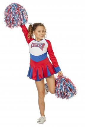 Wilbers Cheerleader Kleid Cheer Leader Größe 116 cm