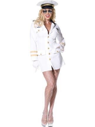 Kostüm sexy Top Gun Offizierin Gr M - Pilotin Verkleidung