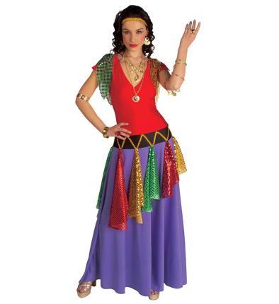 Zigeunerin Königin Wahrsagerin Damenkostüm - Bundes Kleid