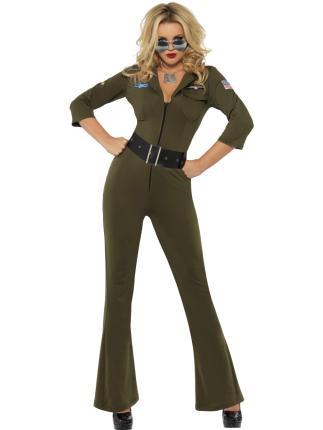 Kostüm Top Gun Uniform Gr. S Damenkostüm