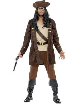 Kostüm Pirat - Seeräuber Gr. M  Piratenkostüm Seefahrer Männer M