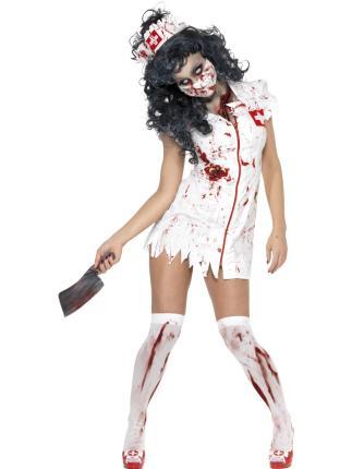 Zombie Krankenschwester - Halloween Gr. S  Zombiekostüm
