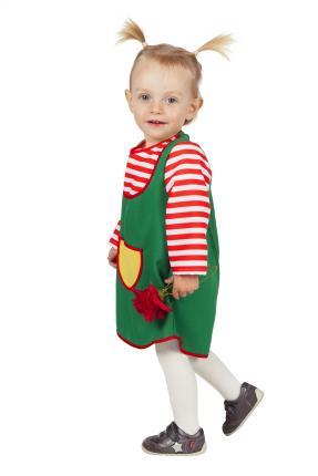 Wilbers Kinderkostüm Grünes Kleid 86 bis 98  cm - freches Mädchen 98 cm