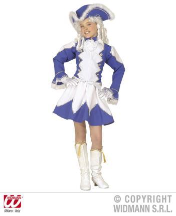 Kostüm Funkenmariechen - blau Gr. M 140 cm  MAJORETTE …