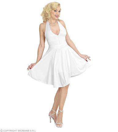 Kostüm Marylin Kleid - Starkostüm  Star 60er Jahre weiß - Diva Verkleidung