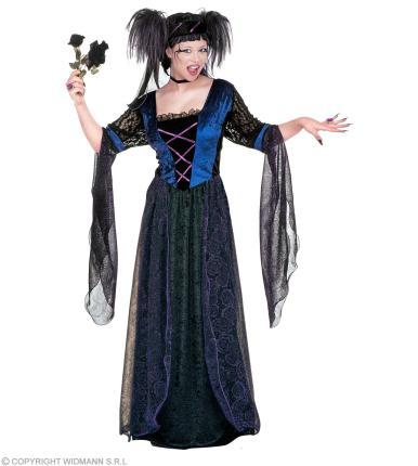 Kostüm Gothic Prinzessin - Schloßkostüm - Mittelalter Hexe Halloween