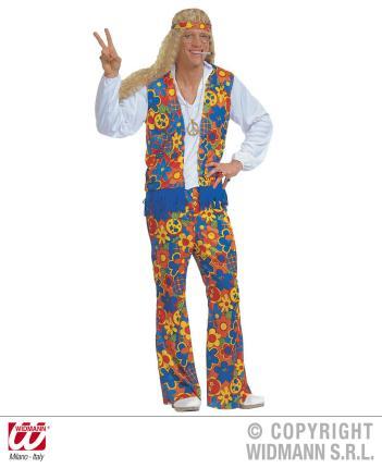 Hippy Kostüm für Männer Gr. M Hippie 70er Jahre Flower Power 70ties. M