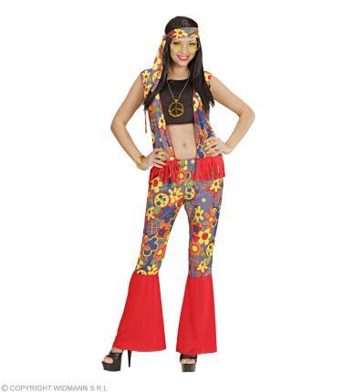 Kostüm Hippie - Verkleidung Hippy Frau Flower Power Dame