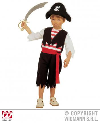 Piratenkostüm für Kinder - Piratenverkleidung Gr. 104 + 110 cm