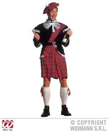 Schottenkostüm - komplettes Kostüm Schotte Highlander Gr. L