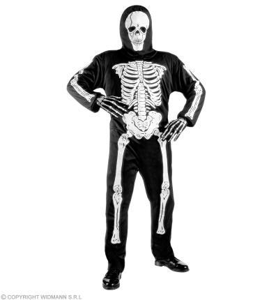 Kinderkostüm Skelett, Anzug und Maske  Gr 128  Kinder Skelettkostüm