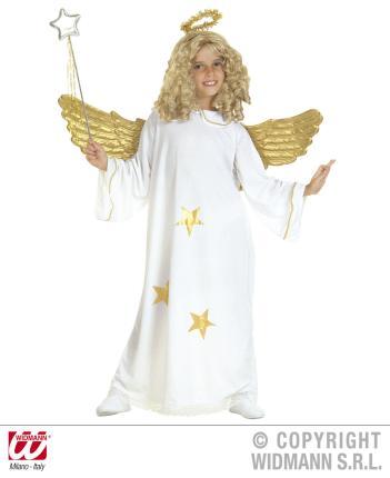 Star Engel Kostüm mit Heiligenschein S 128 cm - Engelkostüm Kind