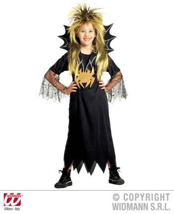 Spidergirl - Spinnenmädchen Gr. M Spinnengirl Halloween 140 cm