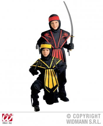 Kostüm Ninja Kinder Samura Krieger Gr.128 cm