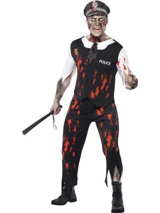 Zombiekostüm - Verkleidung Zombie Polizist Gr L  - Halloween Kostüm