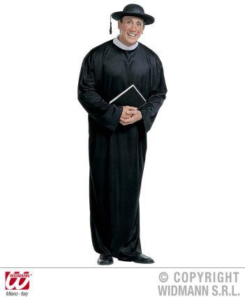 Kostüm Priester Pastor Pfarrer Größe L  Kirchengewand - Priesterrobe 52-54