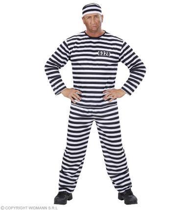 Kostüm Sträfling Gefangener - S -3XL - Knasti Gefangenenkostüm
