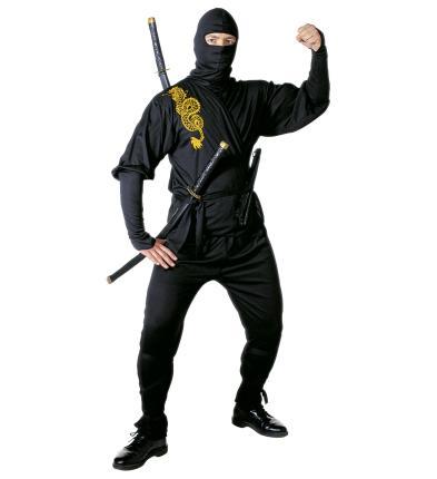 Ninja Kostüm Samurai Verkleidung Gr. M  - Ninjakämpfer Karate Judo Gr. M
