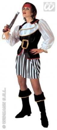 Piratin Kostüm komplett Gr. L - Piratenbraut