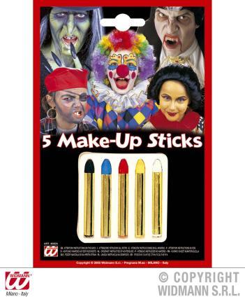5 Schminkstifte - Stifteset - Schminken - Halloween Clown Schminke