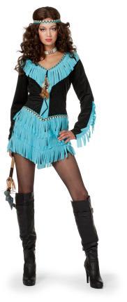 Wilbers sexy Kostüm Indianerin 34 - 46 Wishbone  Indiannerinnen Kleid