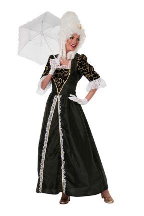 Wilbers Kostüm Rokoko Barock Kleid 36 -48 Mittelalter Damenkleid Gr. 48 - XXL