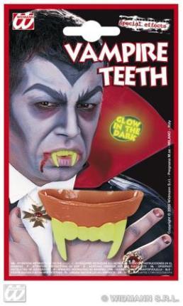 Vampir-Zähne flureszierend - Halloween