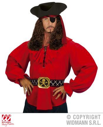 Piratenhemd Renaissance Hemd rot Gr. XL Seeräuber Pirat Freibeuter XL