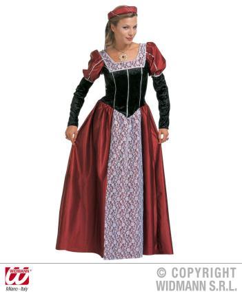 Kostüm Burgfräulein Mittelalter Gr. XXL  - Mittelalter Schloßherrin