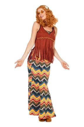 Wilbers Woodstock Hippie Kostüm L - 3XL Damen Hippy Gr. 56 - 3XL