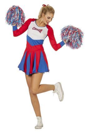 Wilbers Damen Cheerleader Kostüm Kleid Cheer Leader Dame Uniform Football Rubgy Gr. 46 - XL